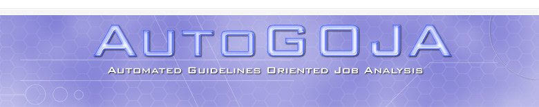 Guidelines Oriented Job Analysis Software: AUTOGOJA